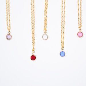 Minimalist Crystal Drop 16 inch Necklace